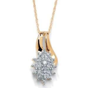 PalmBeach Jewelry Diamond Acc. 10k Gold Gold Pendant 18