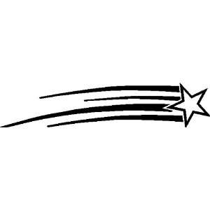 SHOOTING STAR WALL ART STICKERS DECALS CHILDRENS ROOM DECOR, BLACK