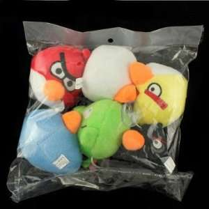 4 inch Angry Birds iPhone Game Plush Toys Window Sucker