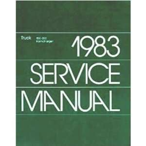 1983 DODGE RAM PICKUP TRUCK RAMCHARGER Service Manual