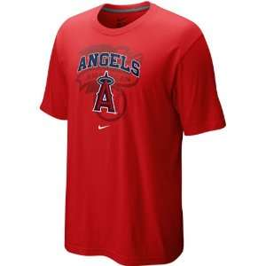 Angels of Anaheim Red Team Arch T shirt (Large)
