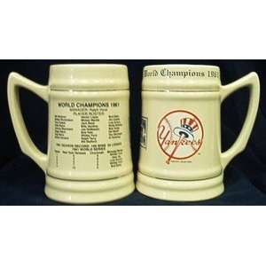 1961 New York Yankees World Series Championship Ceramic