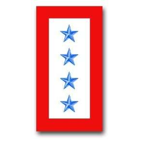 United States Army  Four Blue Stars  Service Flag Decal