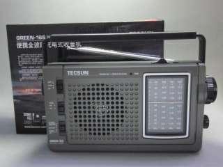 TECSUN GREEN 168 FM、MW、SW Dynamo Hand Cranking Radio