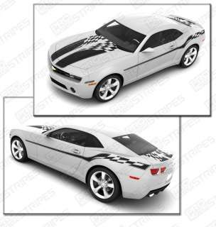 Camaro Flag Stripes Set Complete Decal Kit 2010 2011