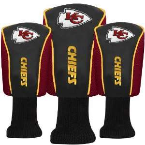 Kansas City Chiefs Red Three Pack Golf Club Headcovers