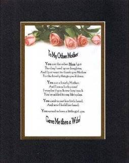 Heartfelt Poem for Mothers   To My Other Mother (From Son in law) Poem