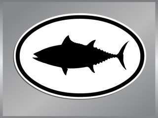 ALBACORE TUNA Silhouette Euro vinyl decal Fish Sticker