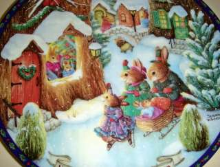 Susan Wheeler Christmas Comes To Primrose Hill Rabbits HEARTS WARM
