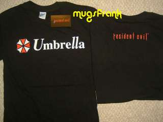 New Resident Evil Zombie Movie Umbrella Logo T Shirt