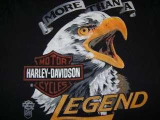 vtg NEW NOS HARLEY DAVIDSON MORE LEGEND 80S t shirt S
