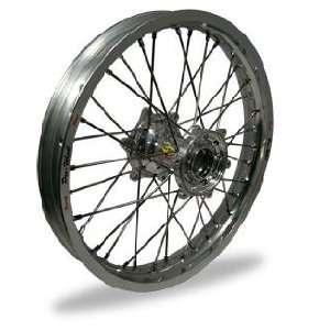 MX Rear Wheel Set   19x2.15   Silver Rim/Silver Hub 24 42011 HUB/RIM