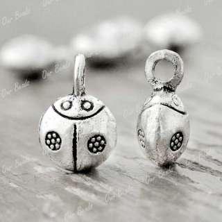 30pcs Tibet Tibetan Silver Ladybug Charms Pendant TS718