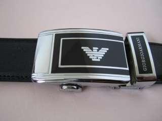 Brand New in Box Giorgio Armani Mens Leather Belt Easy Lock Release