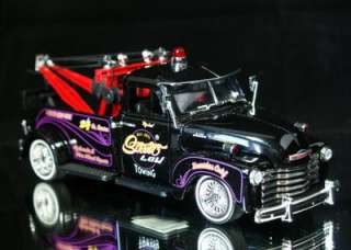 1953 Chevy Tow Truck Jada STREET LOW Diecast 124 Scale   Black