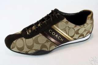 COACH Jayme Signature Khaki / Chestnut Sneakers Shoes