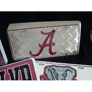 Alabama Crimson Tide Diamond Car Tag