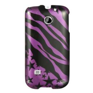 Purple Black Zebra Stripe Star Hard Case Phone Cover For Huawei Ascend