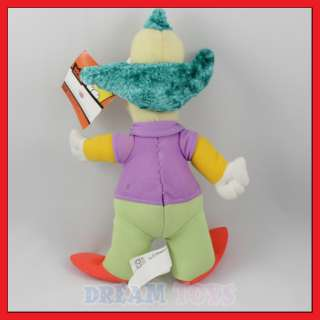 10 The Simpsons Krusty the Clown Plush Doll Toy Figure