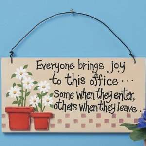 Everyone Brings Joy Sign   Party Decorations & Wall