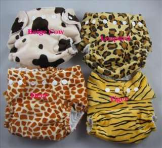 AIO One Size Baby Cloth Diapers Nappies w/ Inserts