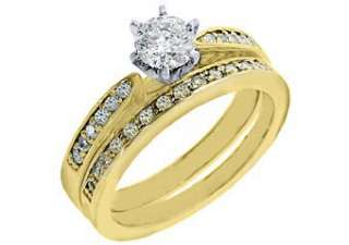 CARAT WOMENS DIAMOND ENGAGEMENT RING WEDDING BAND BRIDAL SET ROUND