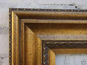 Picture/Frame/Wide/Antique/Gold/Leaf/Wood 24x36/24 x 36