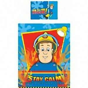 Fireman Sam Hero Panel Junior Cot Bed Duvet Quilt Cover