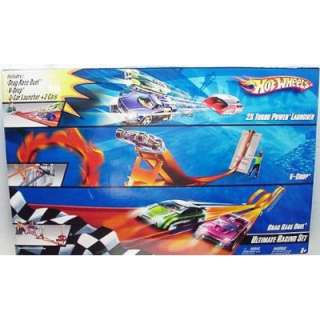 Hot Wheels ULTIMATE Racing Set   3 Sets in 1   2X Turbo Power Launcher