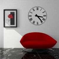 Wall Vinyl Art Decal Sticker   Roman Numeral Clock