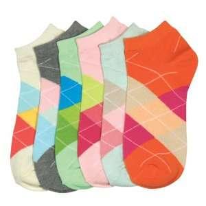 HS Women Fashion Socks Grid Design (size 9 11) 6 Colors 6