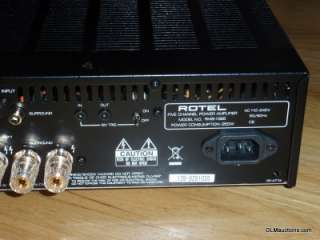 Rotel RMB 1565 5 Channel Power Amplifier Black RMB1565