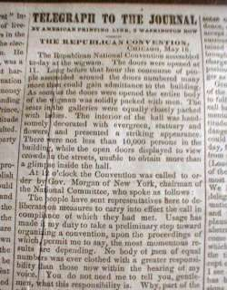 Lot of4 1860 newspapers REPUBLICANS nominate ABRAHAM LINCOLN for