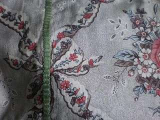 PANEL SHABBY CHIC ANTIQUE FRENCH PRINTED LINEN 18th century