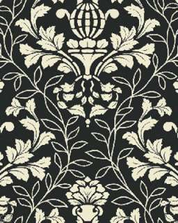 black white floral toile city blooms by kitty yoshida for benartex 1