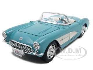 1957 CHEVROLET CORVETTE TURQUOISE 124 DIECAST CAR MODEL BY MAISTO