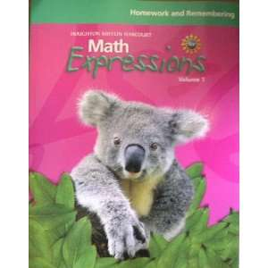 Expressions (Math Expressions 2009   2012) (9780547066714) Hmh Books