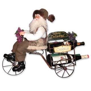 NEW Handcrafted Karen Didion 25 Wine Trike Santa