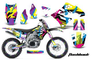 AMR RACING BACKGROUND NUMBER PLATE STICKER DECAL WRAP KAWASAKI KXF 450