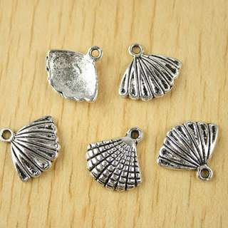 description25pcs Tibetan silver shell charms H2384
