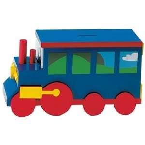 Sassafras Wooden Train Kids Bank Toys & Games