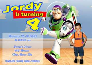 TOY STORY birthday party INVITATION (W/ pictures) fast turnaround CARD
