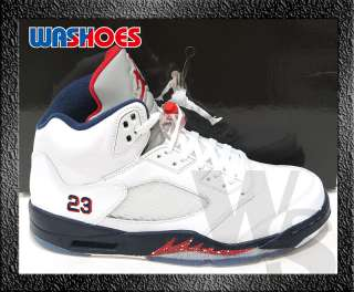 Nike Air Jordan 5 V Retro White Red Blue Navy US 8.5~12 Original 11 10
