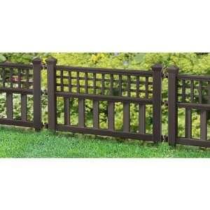 Pk Of Suncast Grandview Border Fencing Mocha Patio Lawn Garden