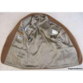 Lubiam $695 Mens 40 R 40R Blazer Brown Cashmere *Italian* Business