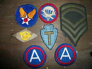 US Airborne / Army Patches WWII  Vietnam Paratrooper WW2 Rare