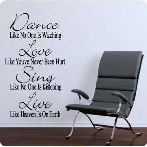 Love..Sing Live.. Wall Decal Decor Words Large Nice Sticker Quotes