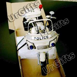 Made Metal Art Bar Decor 1/6 Harley Davidson Motorcycle Police