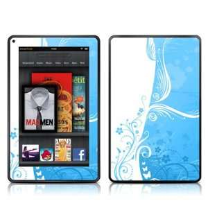 Blue Crush Design Protective Decal Skin Sticker for  Kindle Fire