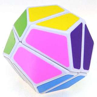 Dodecahedron 2x2x2 Megaminx 12 Sided Rubiks Cube White